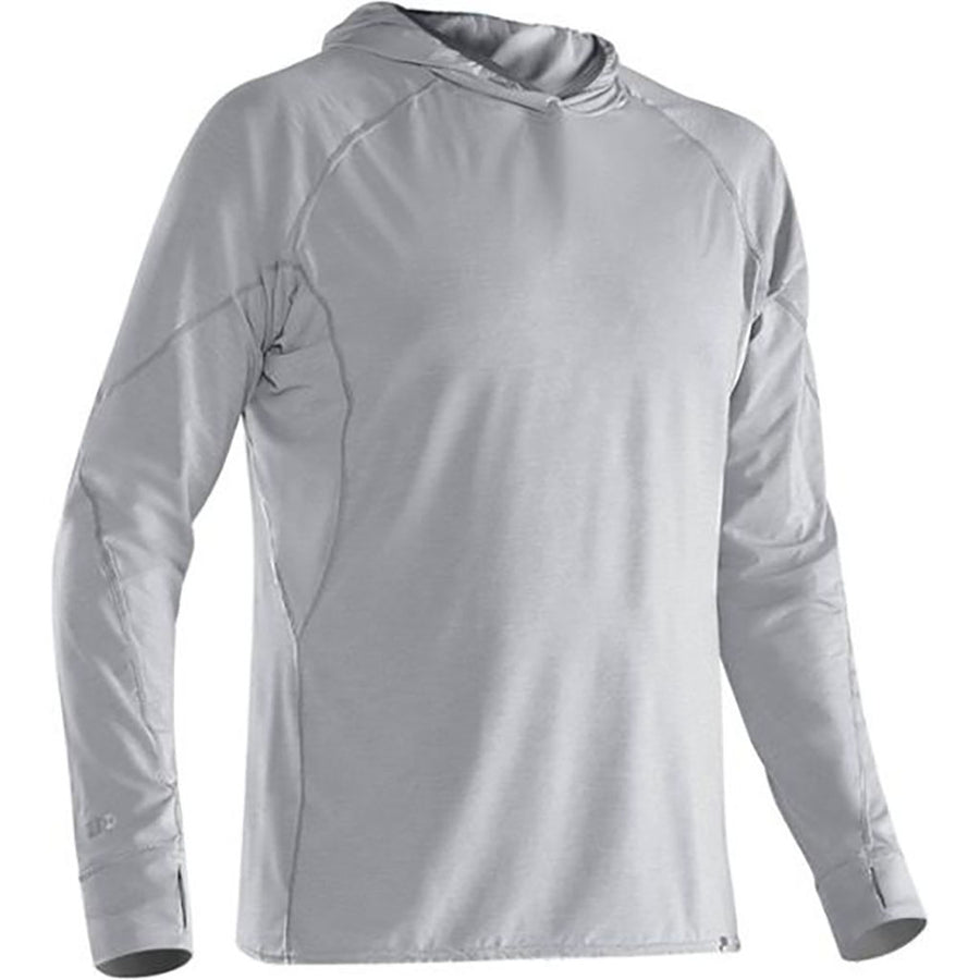 NRS Men's H2Core Silkweight Hoodie - quarry detail 2