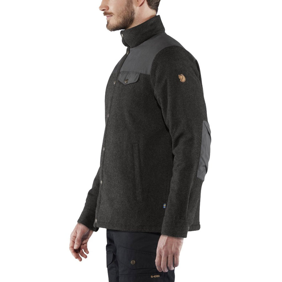 Fjallraven Men's Canada Wool Padded Jacket Black - Model Left