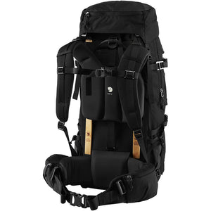 Fjallraven Keb 52 Litre Backpack Black - Back