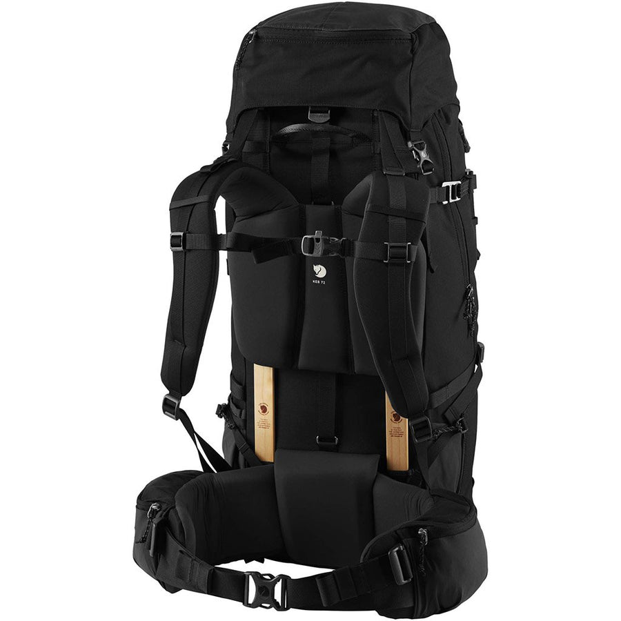 Fjallraven Keb 72 Litre Backpack Black - Back