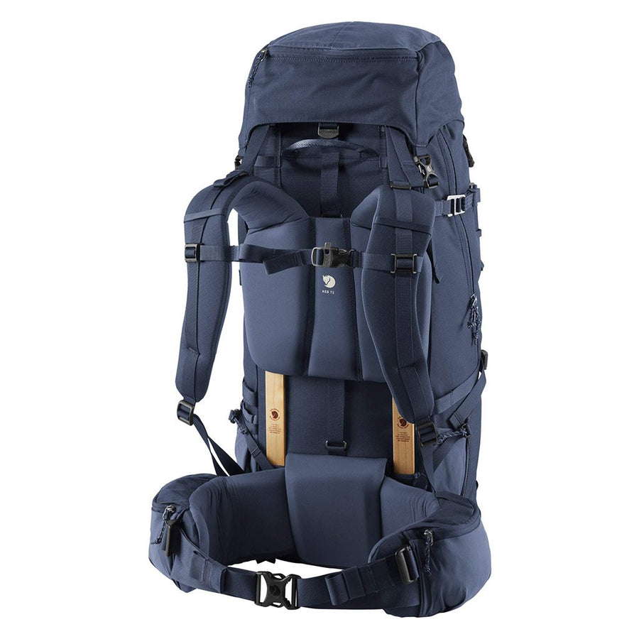 Fjallraven Keb 72 Litre Backpack Storm - Back