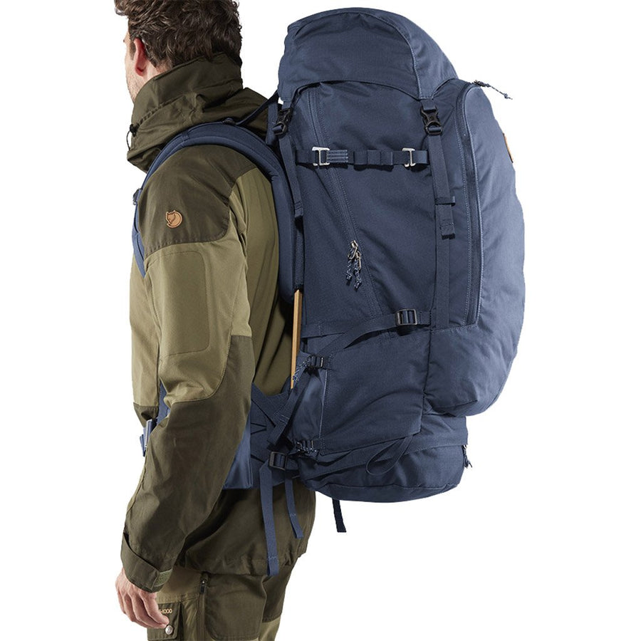 Fjallraven Keb 72 Litre Backpack Storm - Model Side