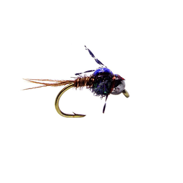 Category 3 Flashback Pheasant Tail UV - Black Tungsten Bead Nymph