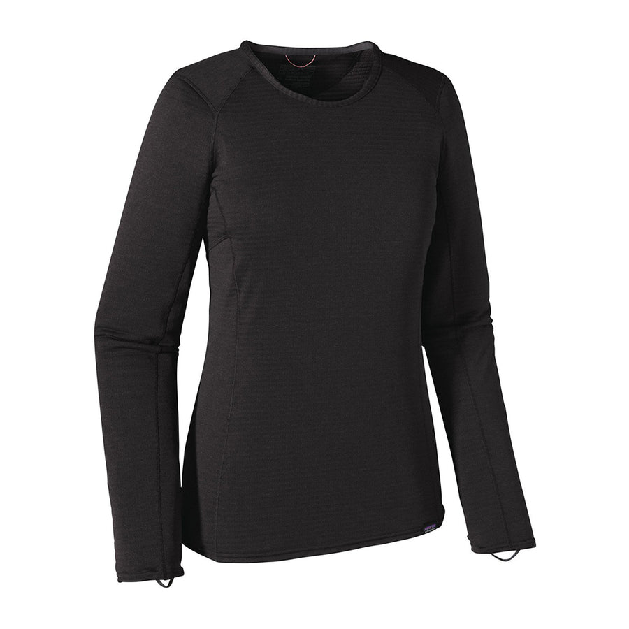 Patagonia Women's Capilene Thermal Weight Crew Baselayer BLK - Hero Right