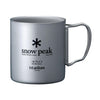 Snow Peak Titanium Double Wall Insulated Mug w/ Folding Handle 450ml