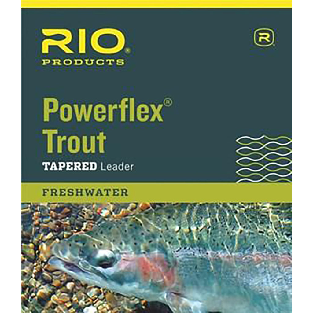RIO Powerflex Trout Tapered Leader - 9FT 3 pack