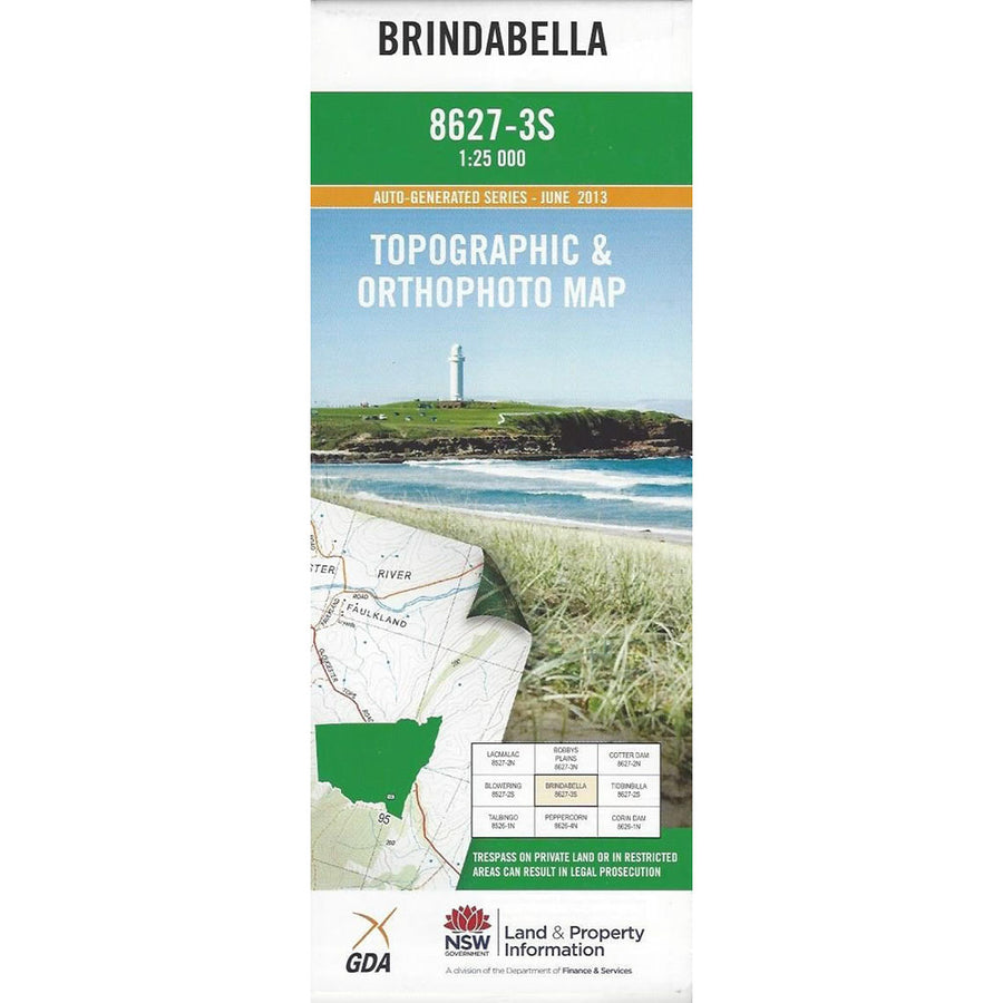 Brindabella 8627-3-S NSW Topographic Map