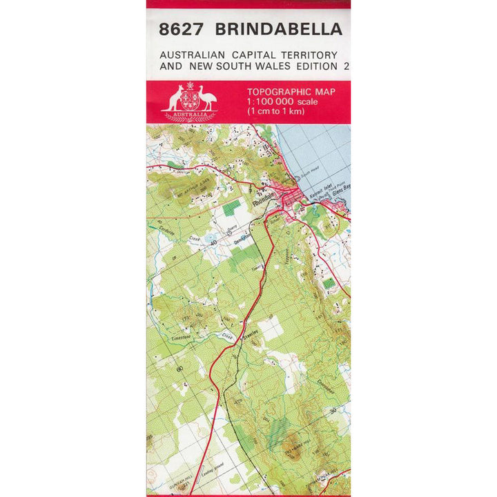 Brindabella (NSW) 1:100k Topographic Map