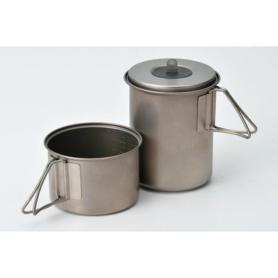 Snow Peak Titanium Mini Solo Combo - Lightweight Camping Cookware Set