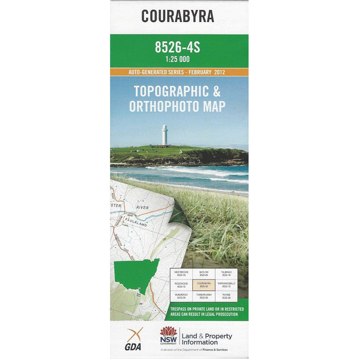 Courabyra 8526-4S 1:25k NSW Topographic Map