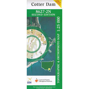 Cotter Dam 8627-2N 1:25k NSW Topographic Map
