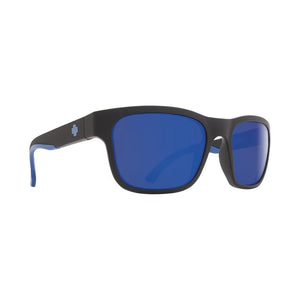 SPY Hunt Sunglasses - Matte Black Navy Happy Bronze Polarised w/ Dark Blue Spectra