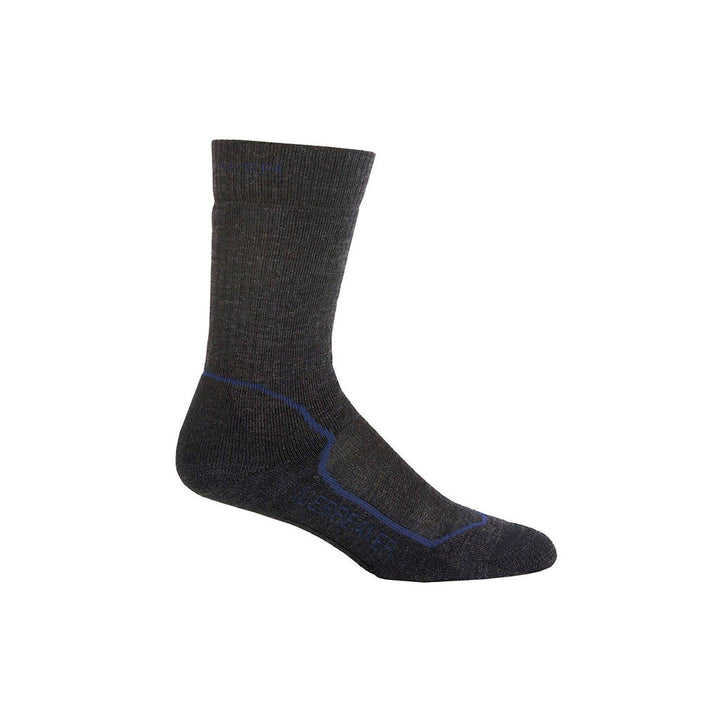 Icebreaker Men's Hike+ Medium Cushion Crew Merino Wool Sock - Jet/Planet/Black