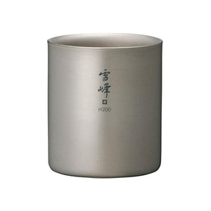 Snow Peak Titanium Double Wall Stacking Mug (Seppou H)
