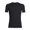 Icebreaker Anatomica S/Sleeve Crewe Merino Base Layer - Black/Monsoon