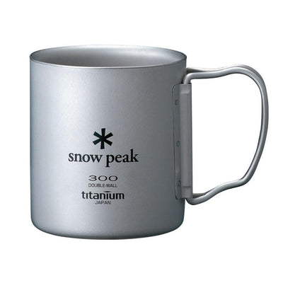 Snow Peak Titanium Double Wall Insulated Mug w/ Folding Handle 300ml