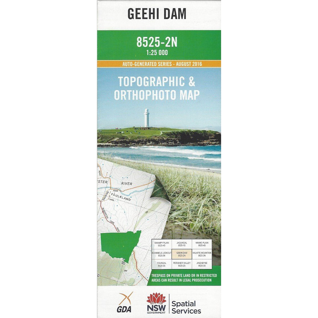 Geehi Dam 8525-2N 1:25K NSW Topographic Map