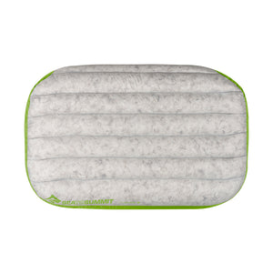 Sea to Summit Aeros Down Pillow Deluxe above - lime