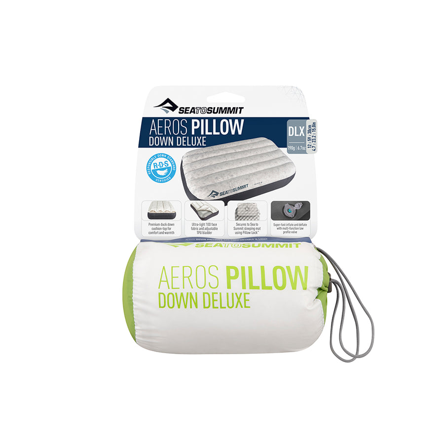 Sea to Summit Aeros Down Pillow Deluxe Packaging - lime