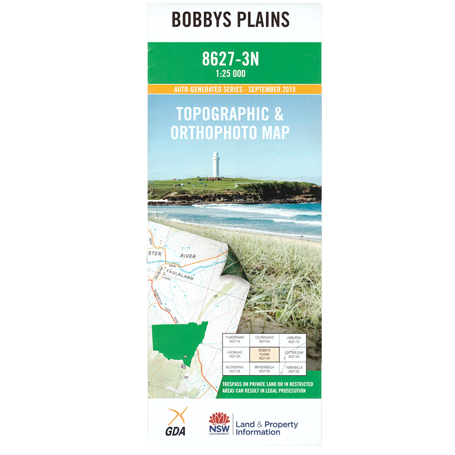 Bobby's Plains 8627-3N NSW Topographic Map