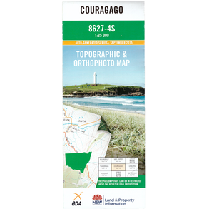 Couragago 8627-4S 1:25k NSW Topographic Map