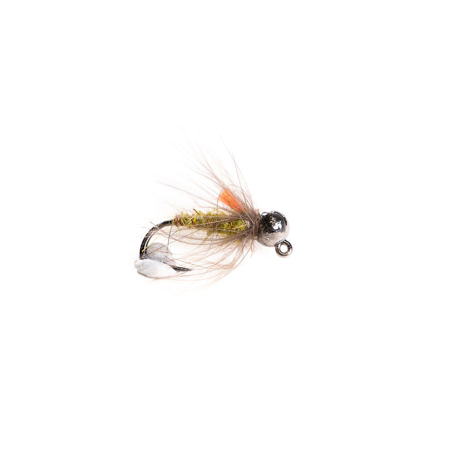 Category 3 Gummers Carpet Caddis - Tungsten Bead Nymph - black bead