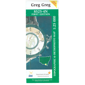 Greg Greg 8525-4N 1:25k NSW Topographic Map