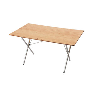 Snow Peak Single Action Bamboo Table Top - long hero