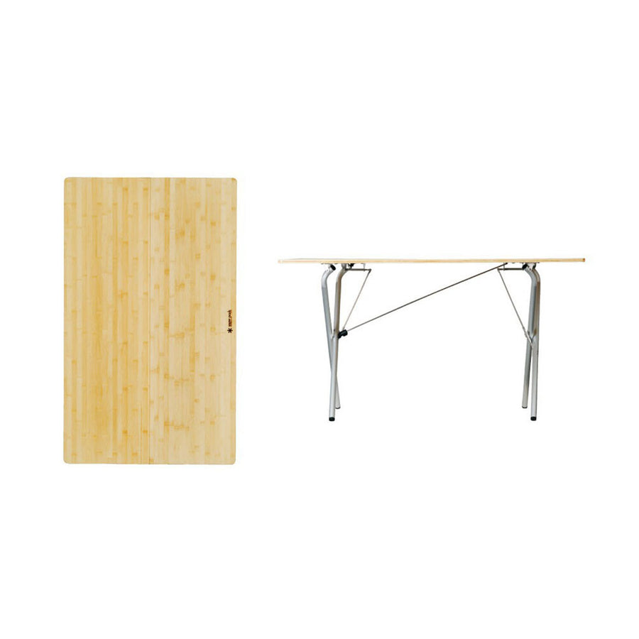 Snow Peak Single Action Bamboo Table Top - long detail
