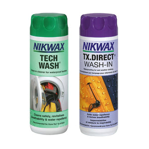 Nikwax Tech Wash and TX Direct Twin Pack - hero