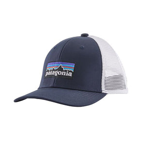 Patagonia Kid's Trucker Hat - P-6 Logo: Navy Blue - hero