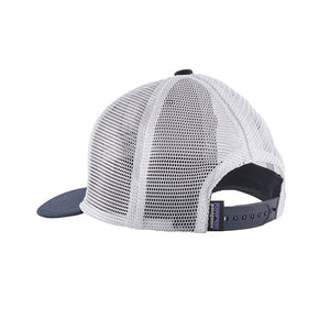 Patagonia Kid's Trucker Hat - P-6 Logo: Navy Blue - detail