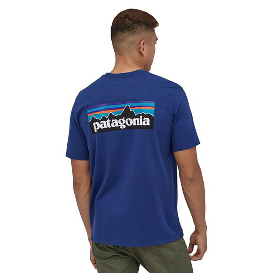 Patagonia Men's P-6 Logo Responsibili-Tee superior blue - model 2