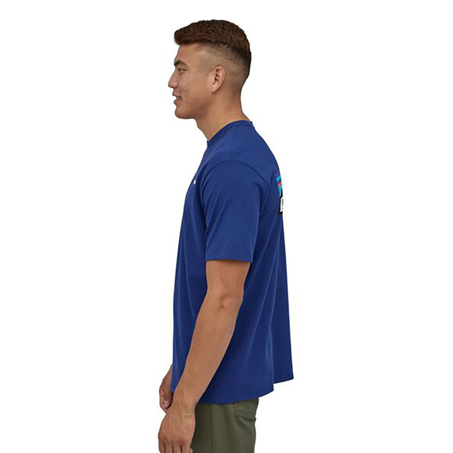 Patagonia Men's P-6 Logo Responsibili-Tee superior blue - model 3