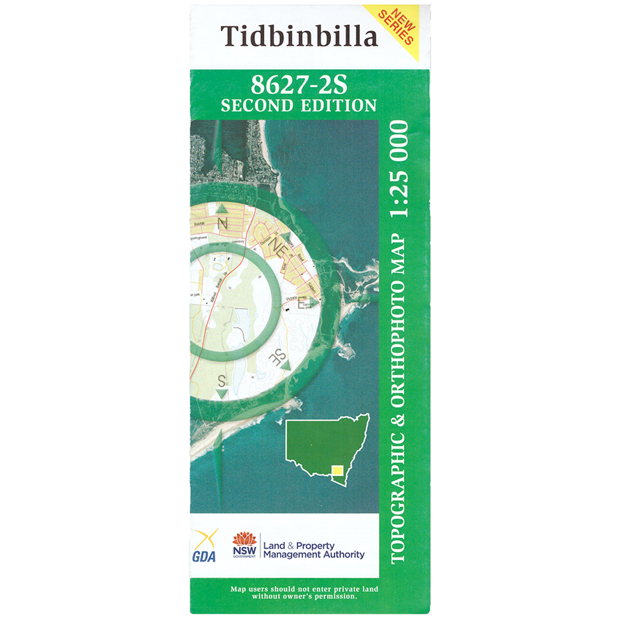 Tidbinbilla 8627-2-S NSW Topographic Map