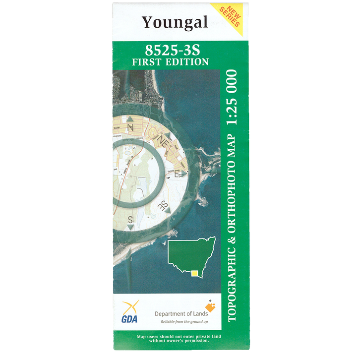 Youngal 8525-3S NSW Topographic Map