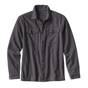 Patagonia Men's Long-Sleeved Fjord Flannel Shirt - Forge Grey - Hero