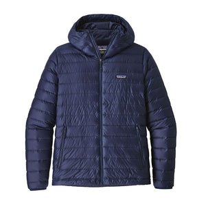 Patagonia Men's Down Insulated Sweater Hoody - Classic Navy - Front