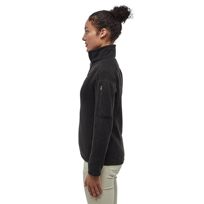 Patagonia Women's Better Sweater Fleece Jacket BLK - Model Side