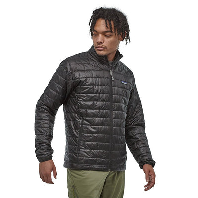Patagonia Men's Insulated Nano Puff Jacket BLK - Model Front