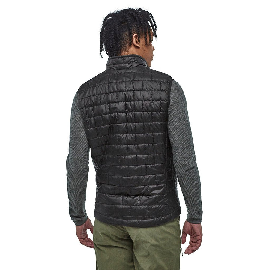 Patagonia Men's Nano Puff Insulated Vest BLK - Model Back