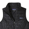 Patagonia Women's Nano Puff Insulated Vest BLK - Folded
