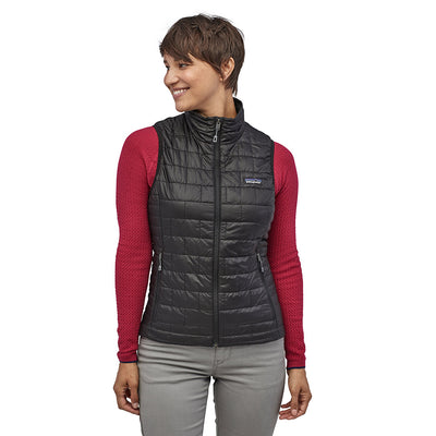 Patagonia Women's Nano Puff Insulated Vest BLK - Model Front