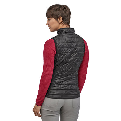 Patagonia Women's Nano Puff Insulated Vest BLK - Model Back