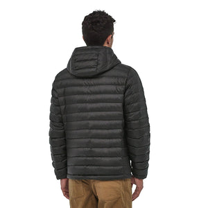 Patagonia Men's Down Insulated Sweater Hoody BLK - Model Back