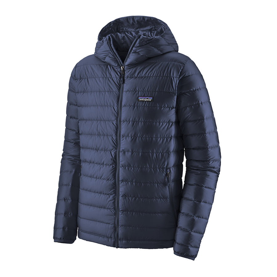 Patagonia Men's Down Insulated Sweater Hoody - Classic Navy - Front 2