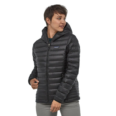 Patagonia Women's Down Insulated Sweater Hoody Model 1