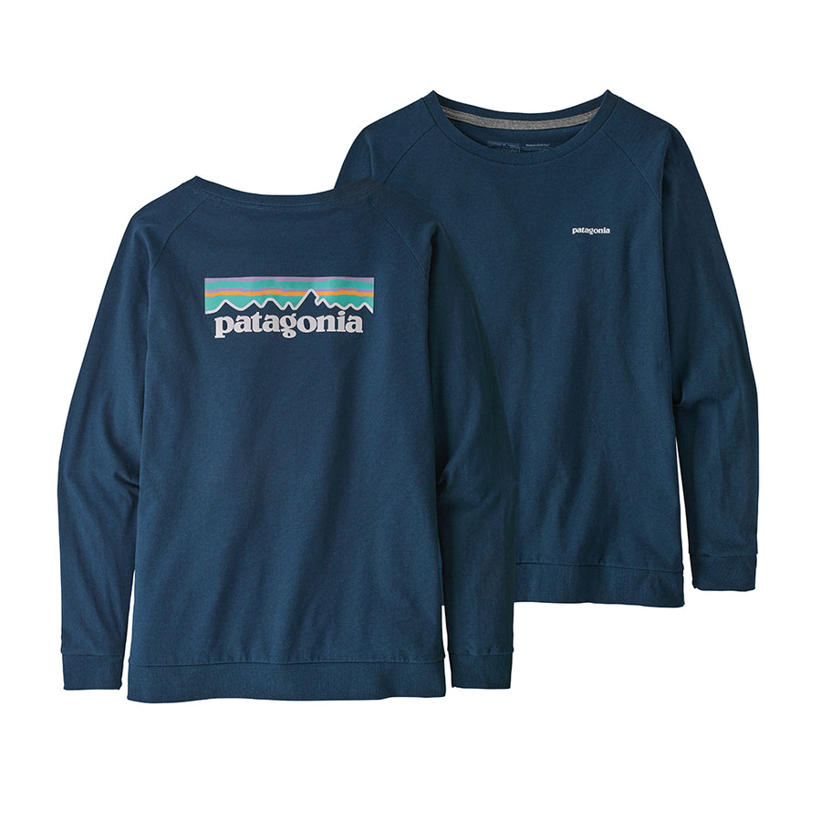 Women's Long-Sleeved Pastel P-6 Logo Responsibili-Tee - Crater Blue 3