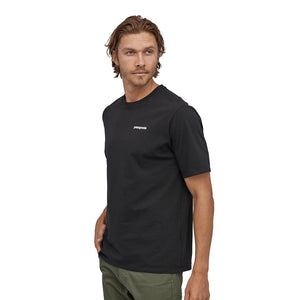 Patagonia Men's P-6 Logo Responsibili-Tee - Black Model 1