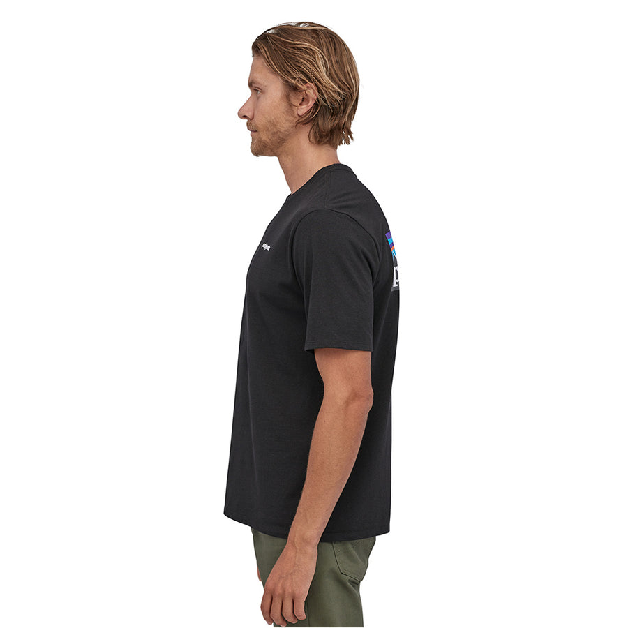Patagonia Men's P-6 Logo Responsibili-Tee - Black Model 3